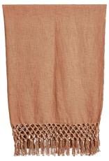 Putty Crochet Edge Throw Blanket