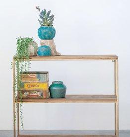 Wood and Metal Hanging Shelf