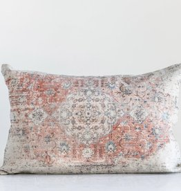 Distressed Print Lumbar Pillow