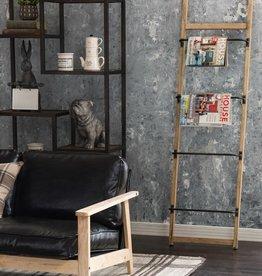 Metal and Wood Wall Rack