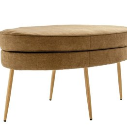Oval Bench with Metal Legs