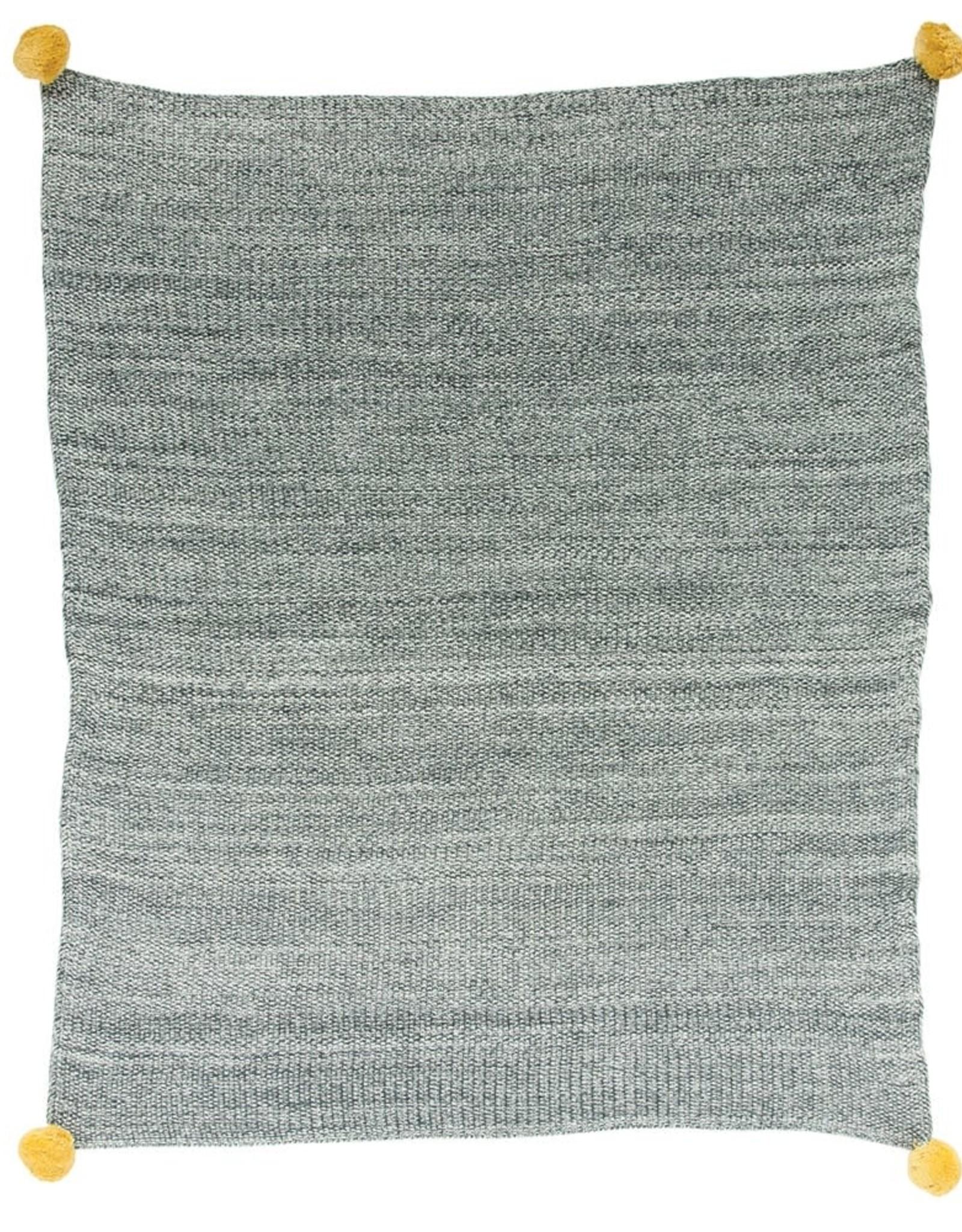Dark Grey and Yellow Baby Blanket