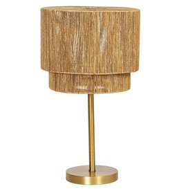 CREATIVE CO-OP LAMP TABLE STRING SHADE GOLD FINISH