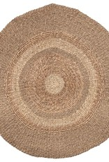 RUG ROUND 5 FOOT SEAGRASS AND WATER HYACINTH