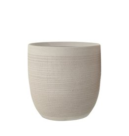Matte White Textured Ceramic Planter