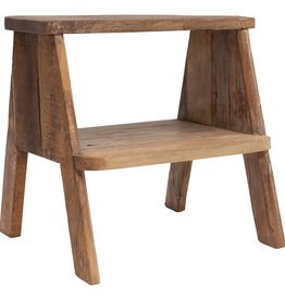 Reclaimed Wood Stool/Side Table