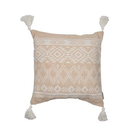 Neutral Geometric Pattern Pillow