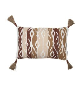 Brown Textured Pillow