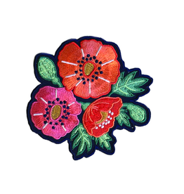 Poppies Iron on Patch