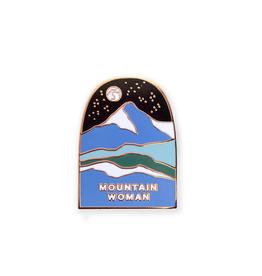 PIN ENAMEL MOUNTAIN WOMAN