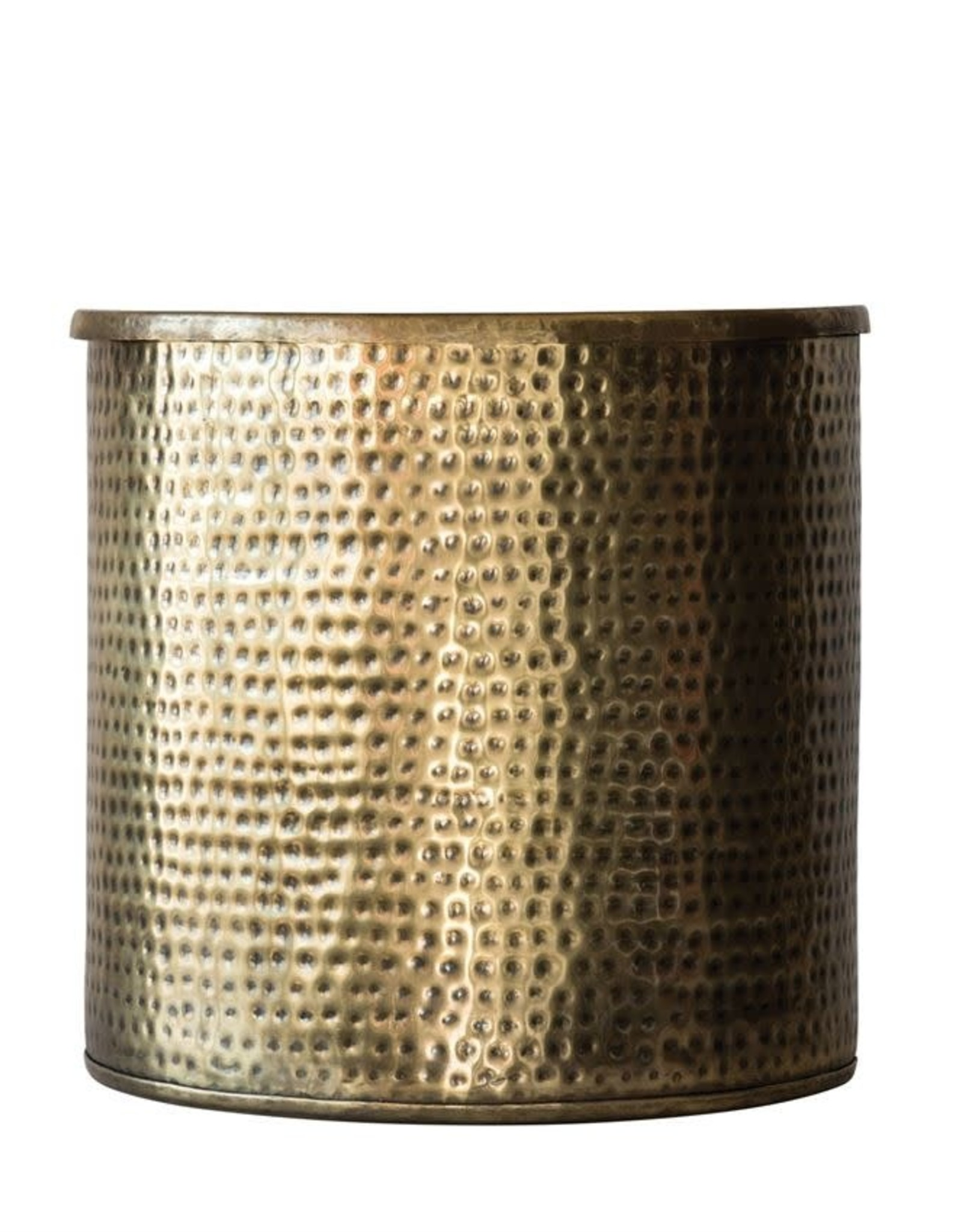 Antique Brass Drum Table With Lid