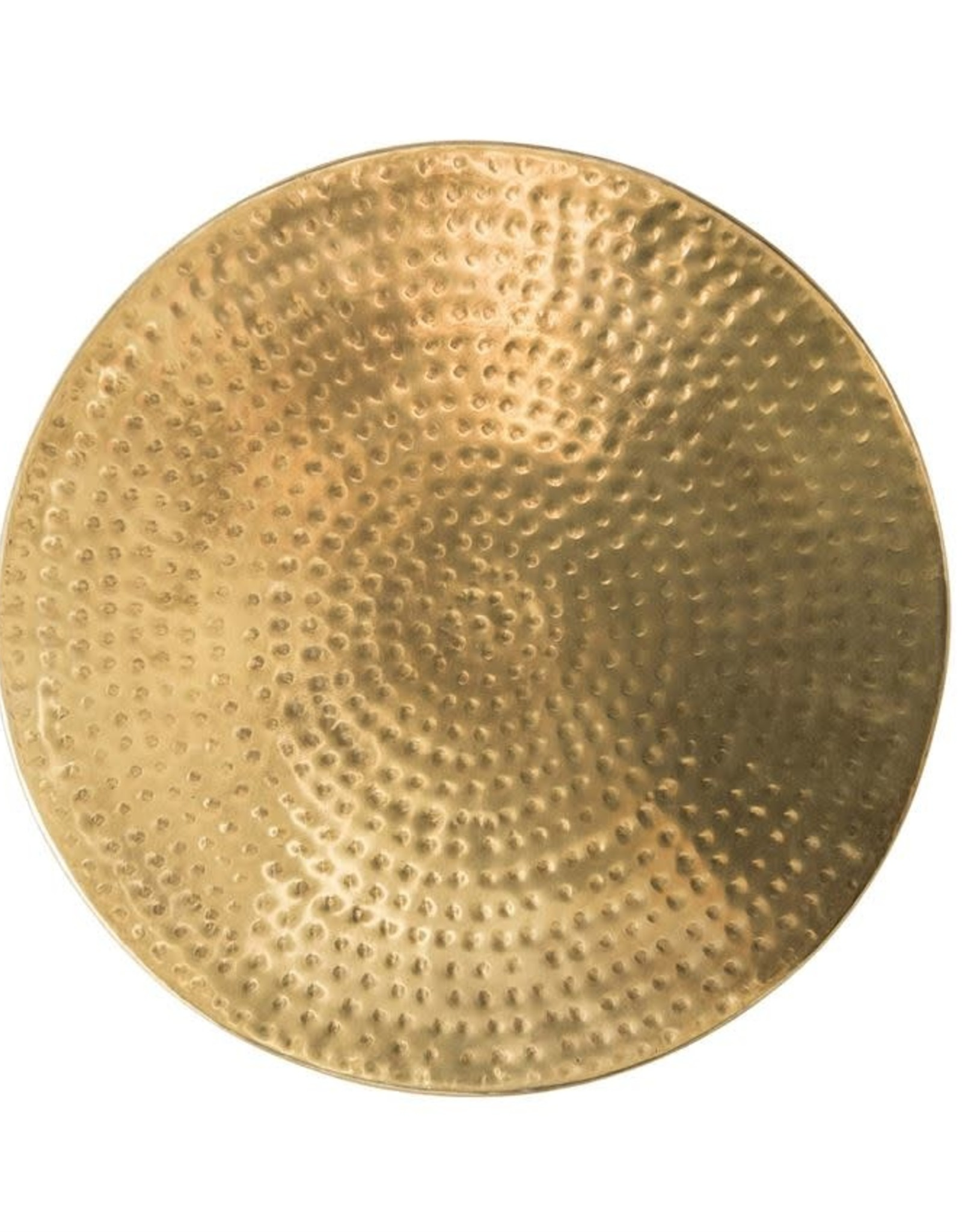 TABLE DRUM WITH LID ANTIQUE BRASS 16 X 17 INCHES