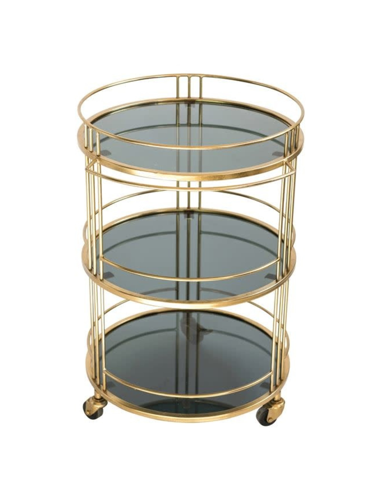 3 Tier Metal and Glass Bar Cart