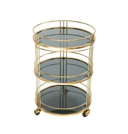 3 Tier Metal and Glass Bar Cart