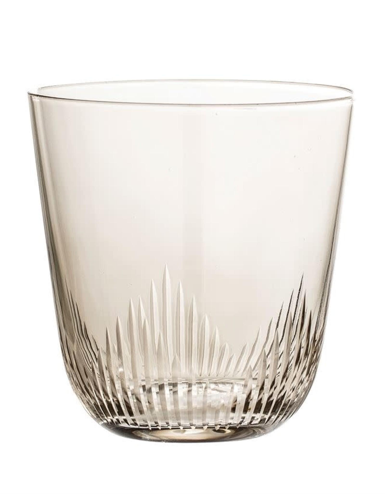 Smoke Etched Bottom Glass