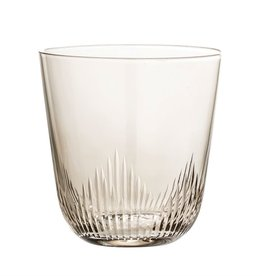 Smoke Etched Bottom Glass
