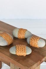 Leather Wrapped Zen Stone
