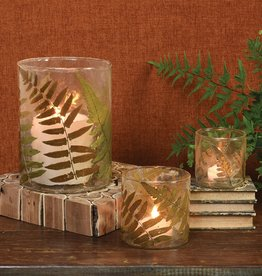 Small Fern Glass Candle Holder