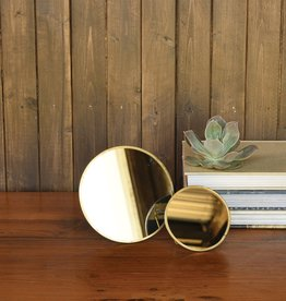Large Brass Easel Mirror