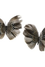 Assorted Clip-on Feather Butterfly