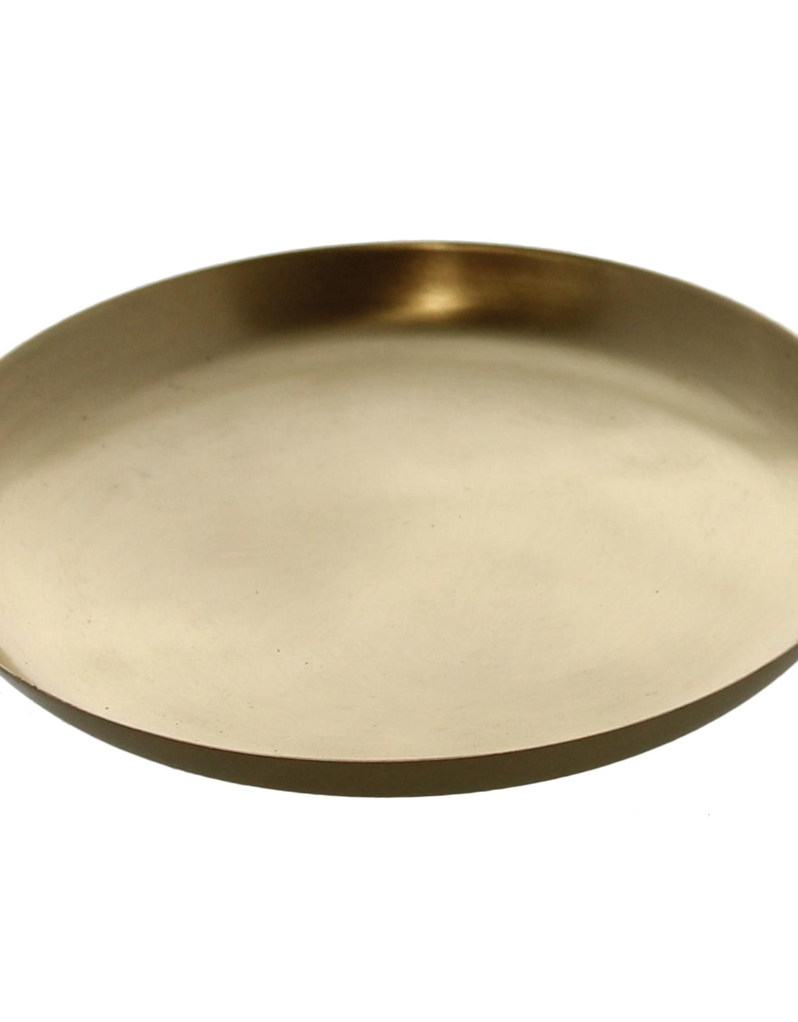 Large Brushed Brass Tray