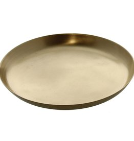 Large Brushed Brass Tray