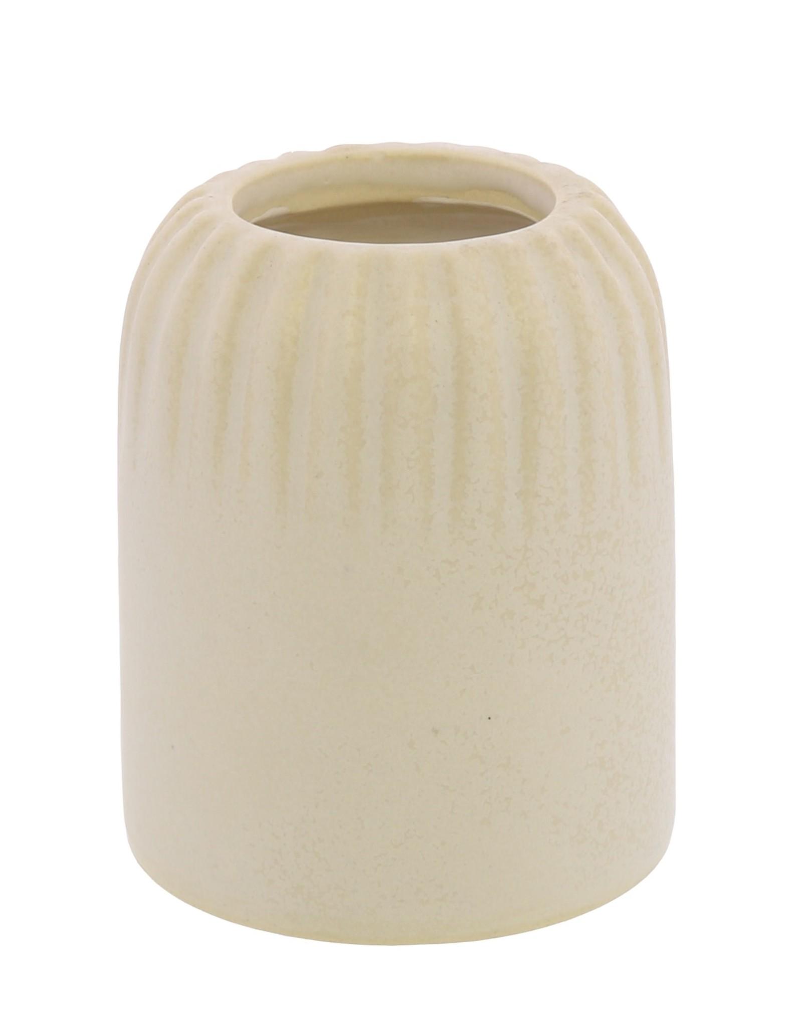 White Stripe Margot Vase