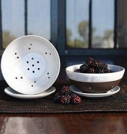 Liam Ceramic Berry Bowl With Saucer
