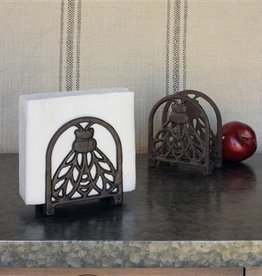 Cast Iron Bee Napkin Holder
