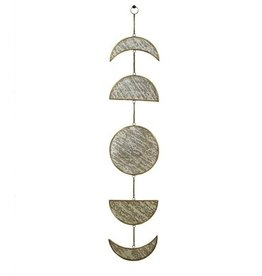 HOMART MIRROR BRASS ANTIQUE MOON PHASES