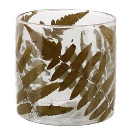 Medium Fern Glass Candle Holder