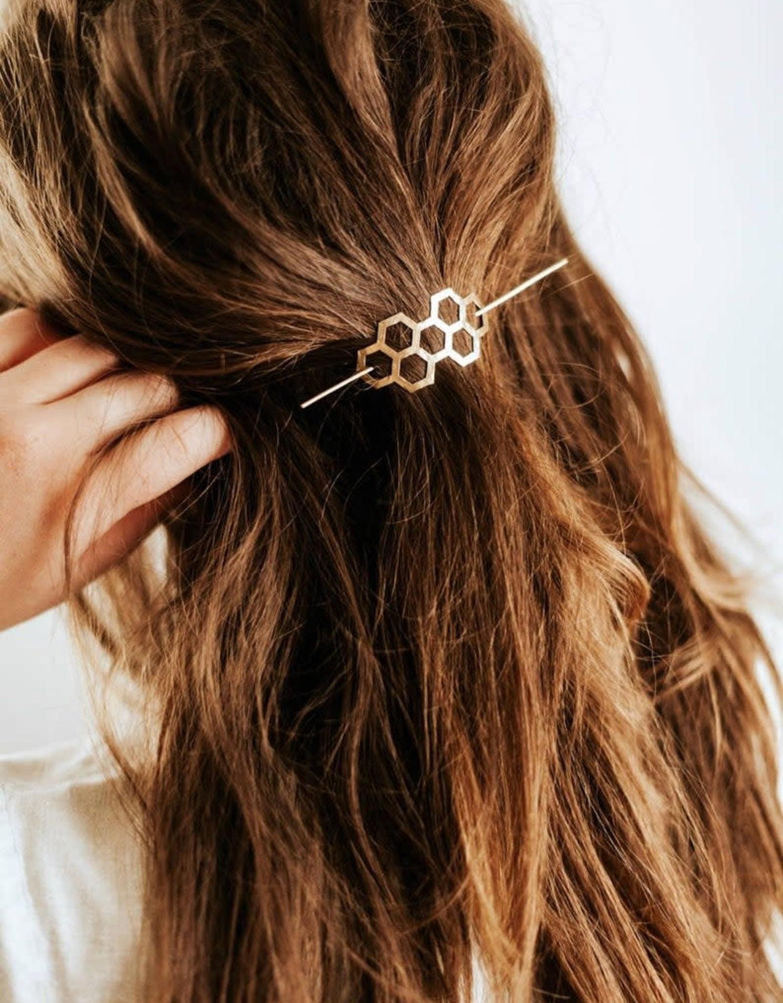 Honeycomb Hair Pin