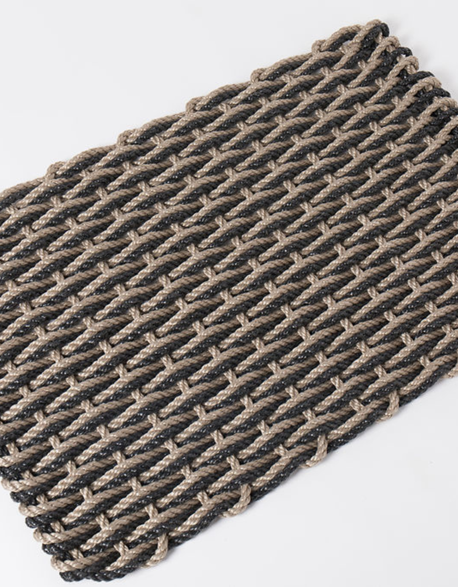 Small Charcoal and Sand Doormat