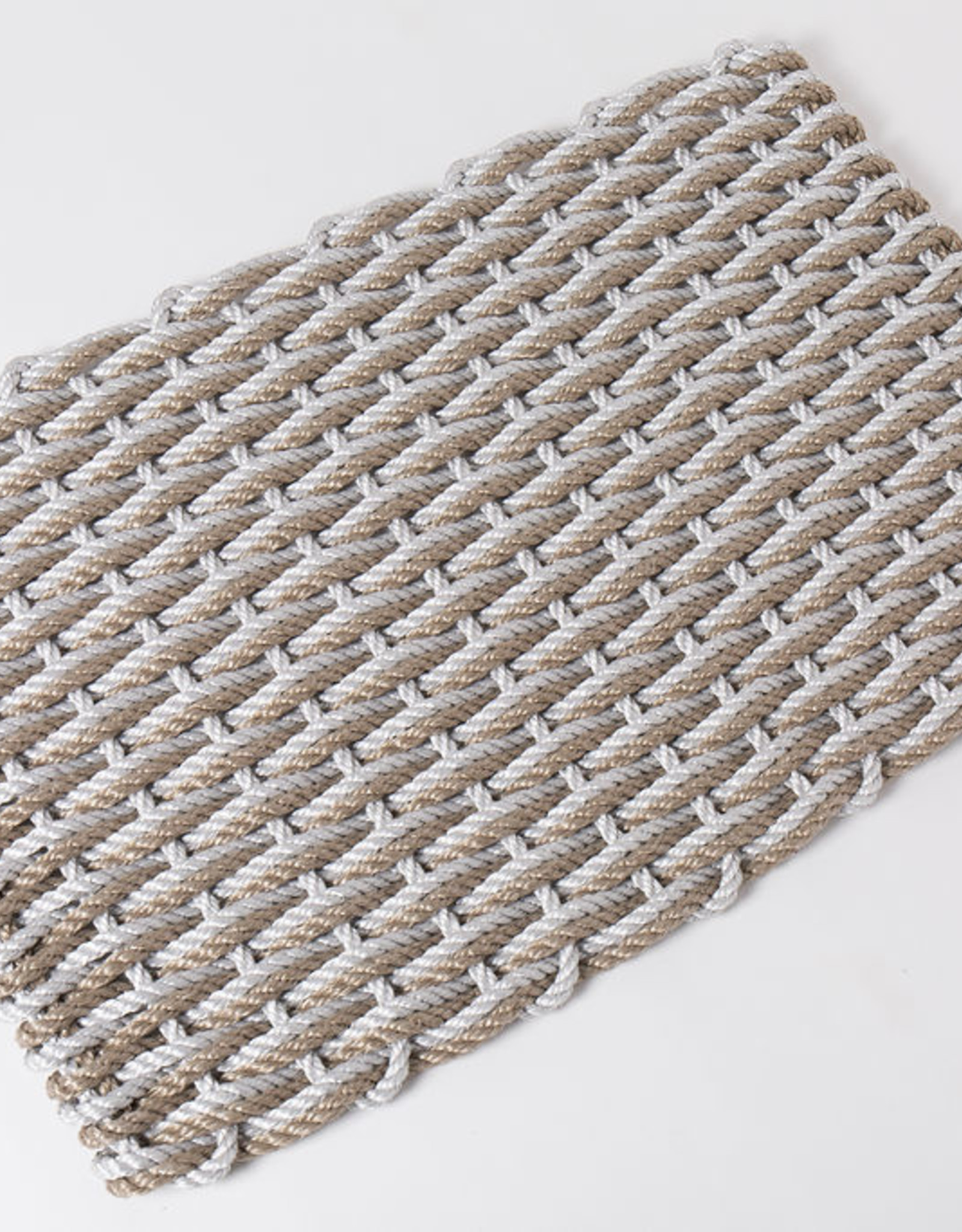 Large Fog Grey and Sand Doormat