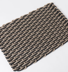 Large Charcoal and Sand Doormat