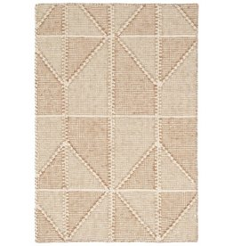 Ojai Wheat 2'x3' Loom-knotted Cotton Rug