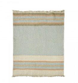 "Multi-Stripe Belgian Linen Towel/Throw 43""x71"""