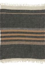 BLANKET THROW TOWEL FOUTA BLACK STRIPE 43 X 71