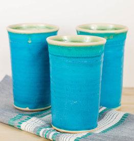 Handmade Large Tumbler Aqua Glaze 16 oz