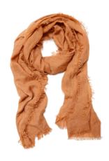 Lightweight Frayed Scarf - Burnt Orange