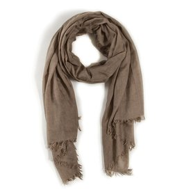 Lightweight Frayed Scarf - Olive Green