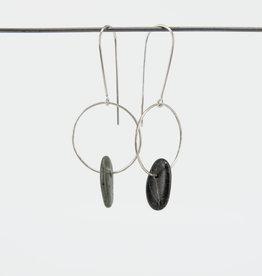 CATLIN BLAIR HARVEY Oval Stone Hoop Earring