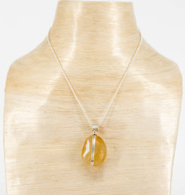 CATLIN BLAIR HARVEY Translucent Agate Bound Earth Necklace