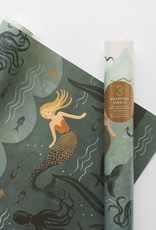 Roll of 3 Wrapping Sheets - Mermaid