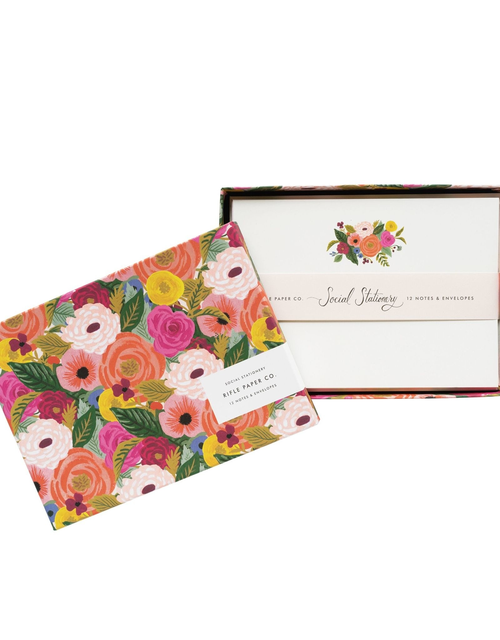 Boxed Set of 12 Notecards - Juliet Rose