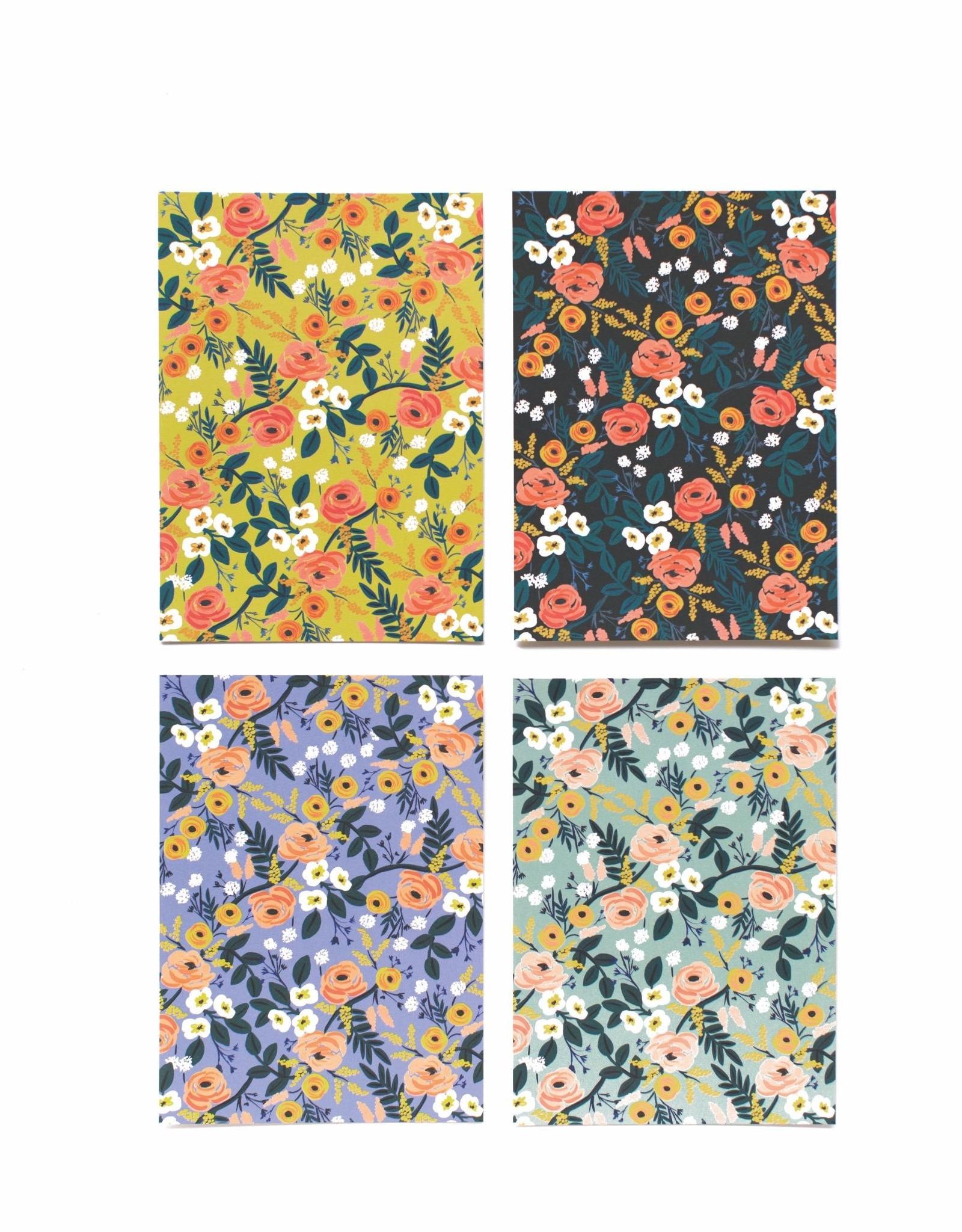Boxed Set of 12 Notecards - Violet Floral