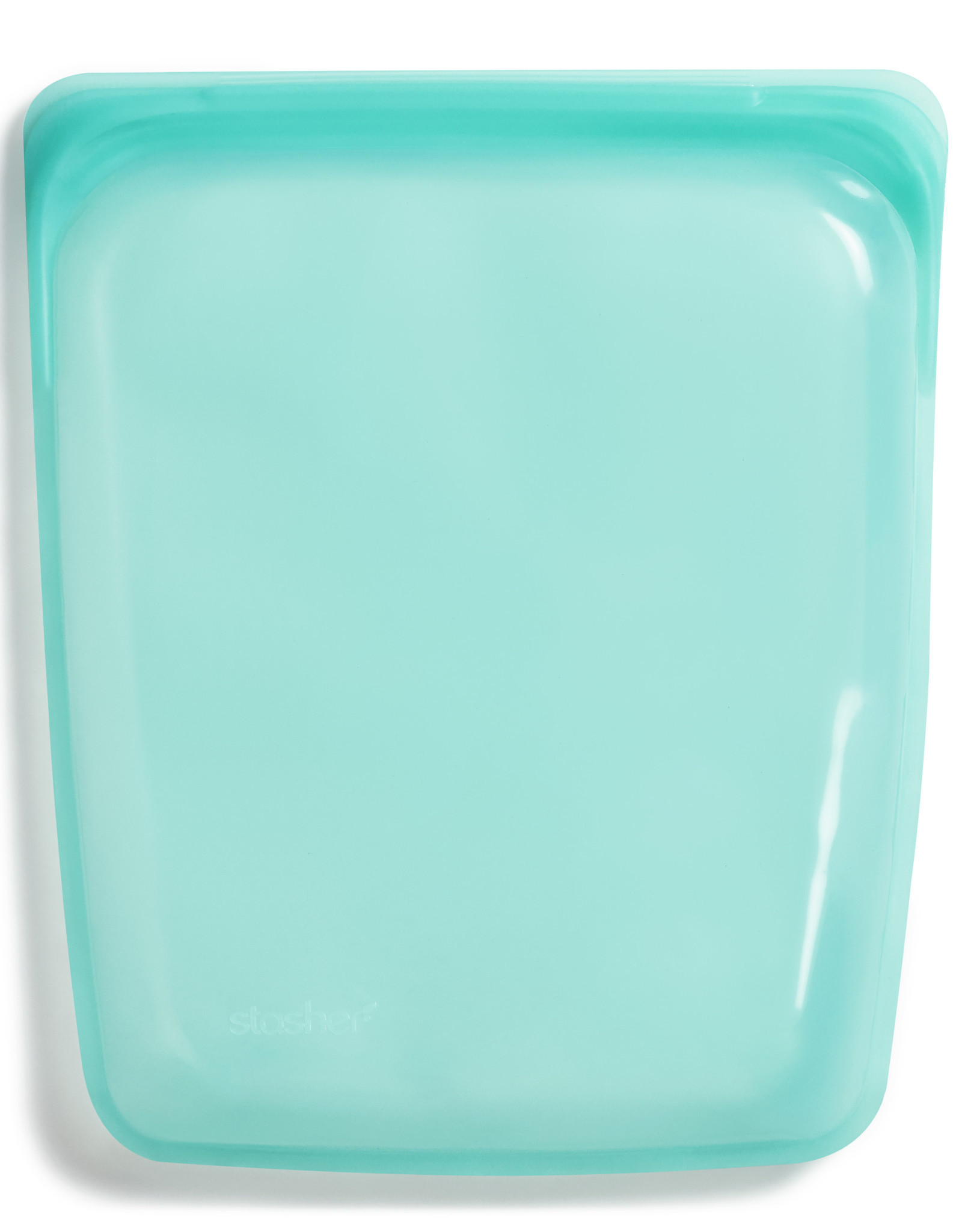 Aqua Silicone Half Gallon Bag