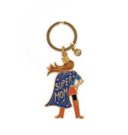Enamel Keychain - Super Mom
