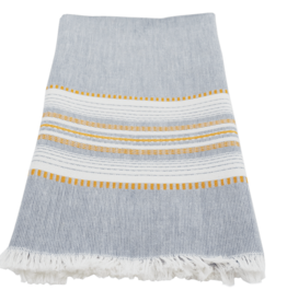 Slate with Gold Chambray Dishtowel