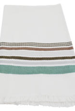 Jade Stripe Antiqua Dishtowel